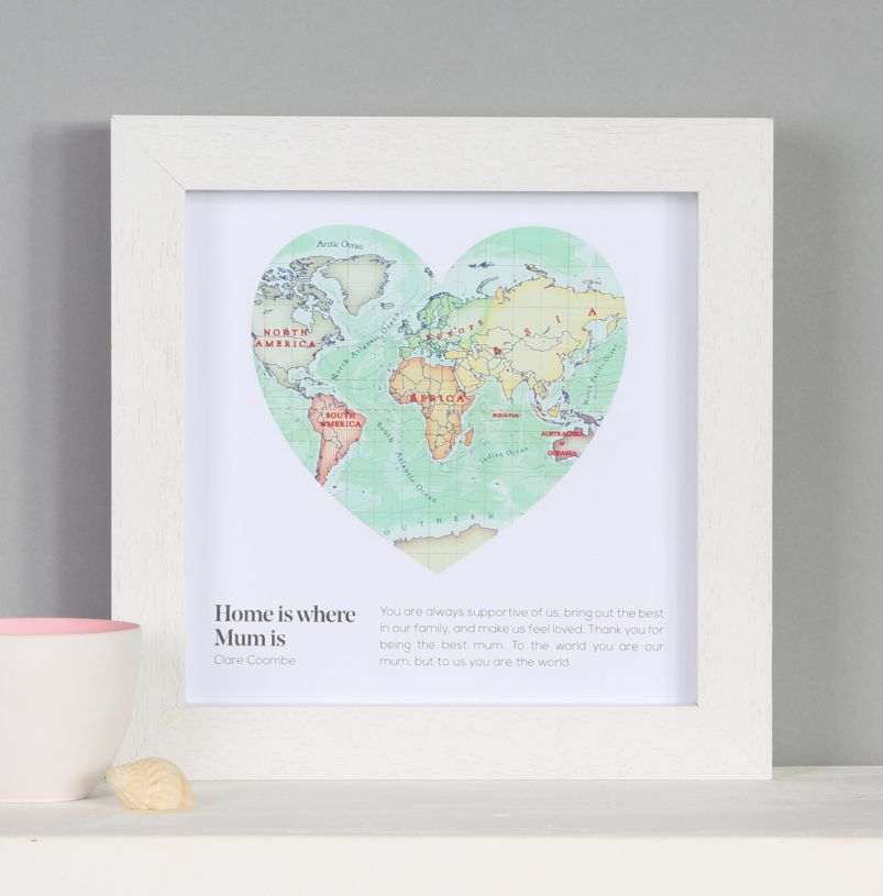 Bombus Personalised Mother\'s day gift | world map heart print - Bombus