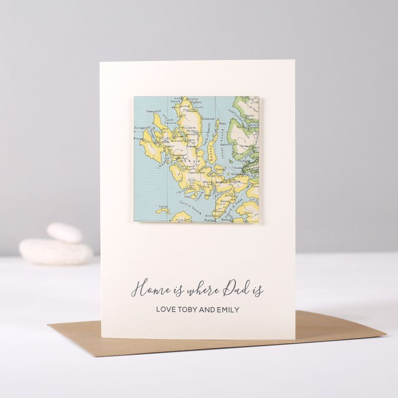 Personalised Map Location Birthday Card