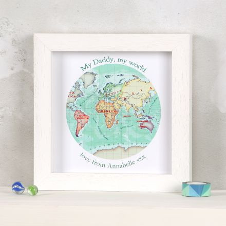 Father's day you are my world map print