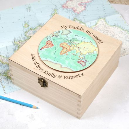 Personalised keepsake box gift for Dad