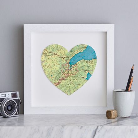 Belfast, Northern Ireland map showing Belfast Lough estuary in pale green and aqua in a white box frame