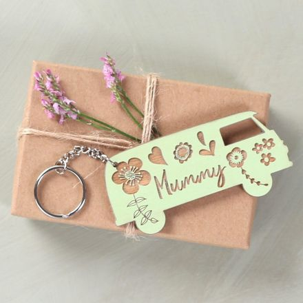 Personalised Engraved Campervan Keyring