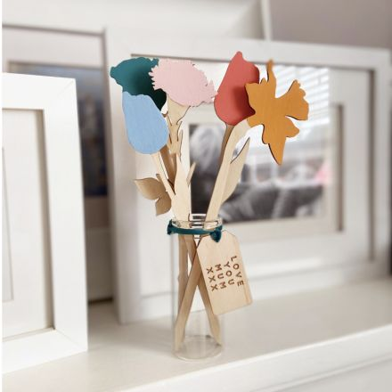 Personalised Flower Bouquet Keepsake Gift For Her