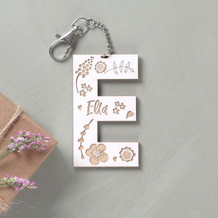 Personalised Engraved Letter Keyring