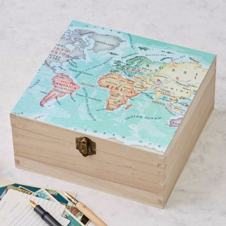 Personalised map location top square box