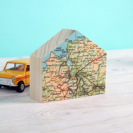 White map heart card Dunster