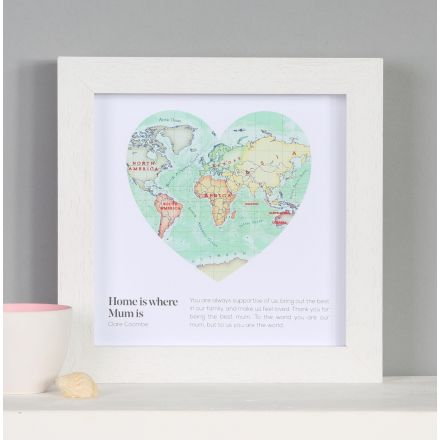You are my world map heart Mother's Day print