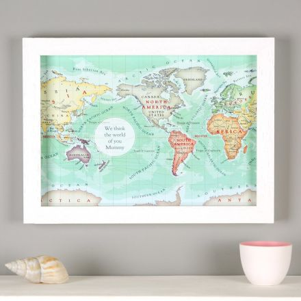 You are my world map with personalised text.