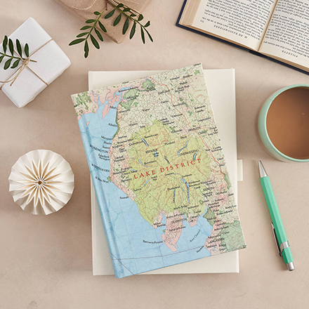 Personalised map location notebook