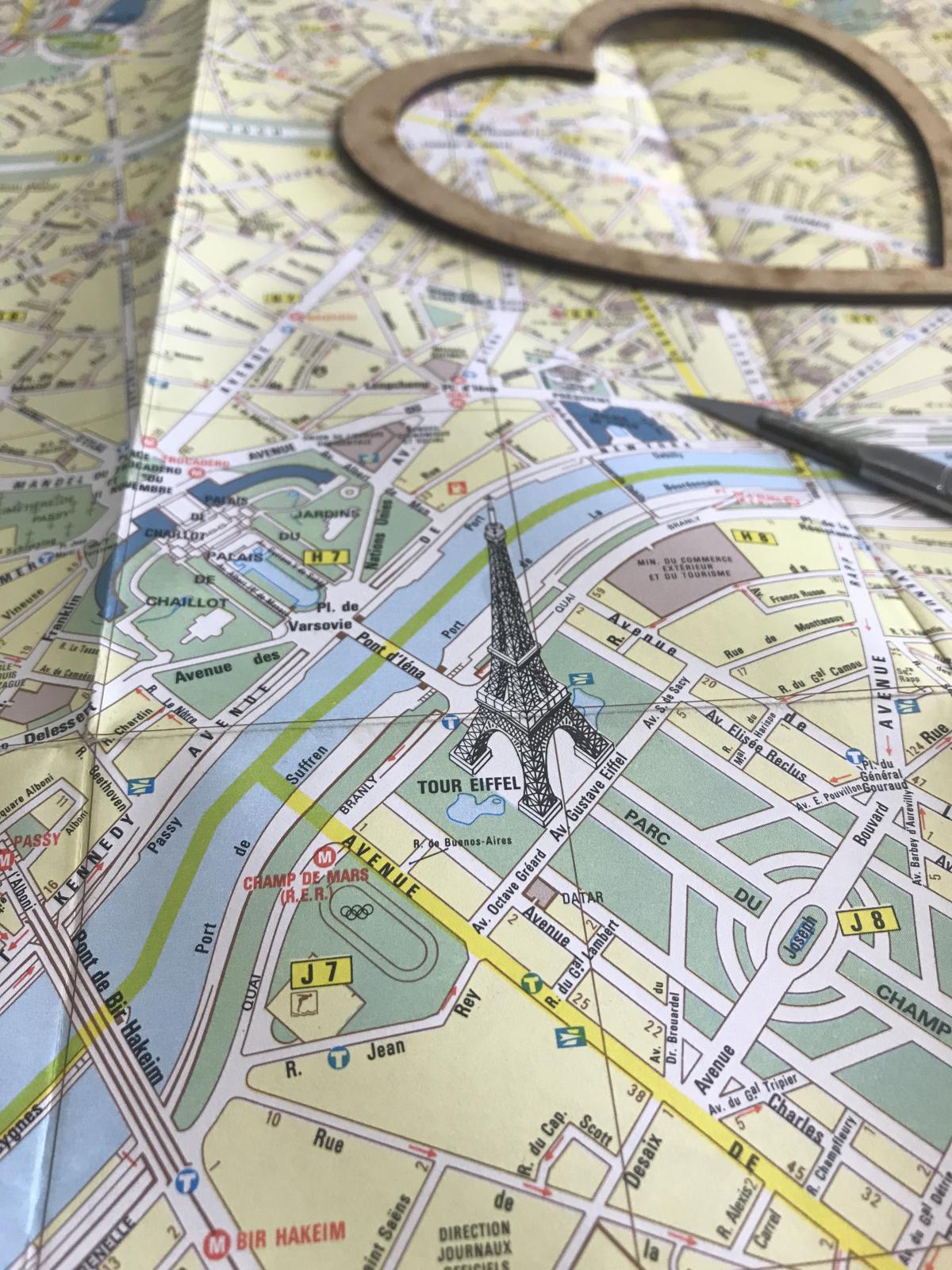 Bombus map of Paris, France. Taken in the Bombus studio during production