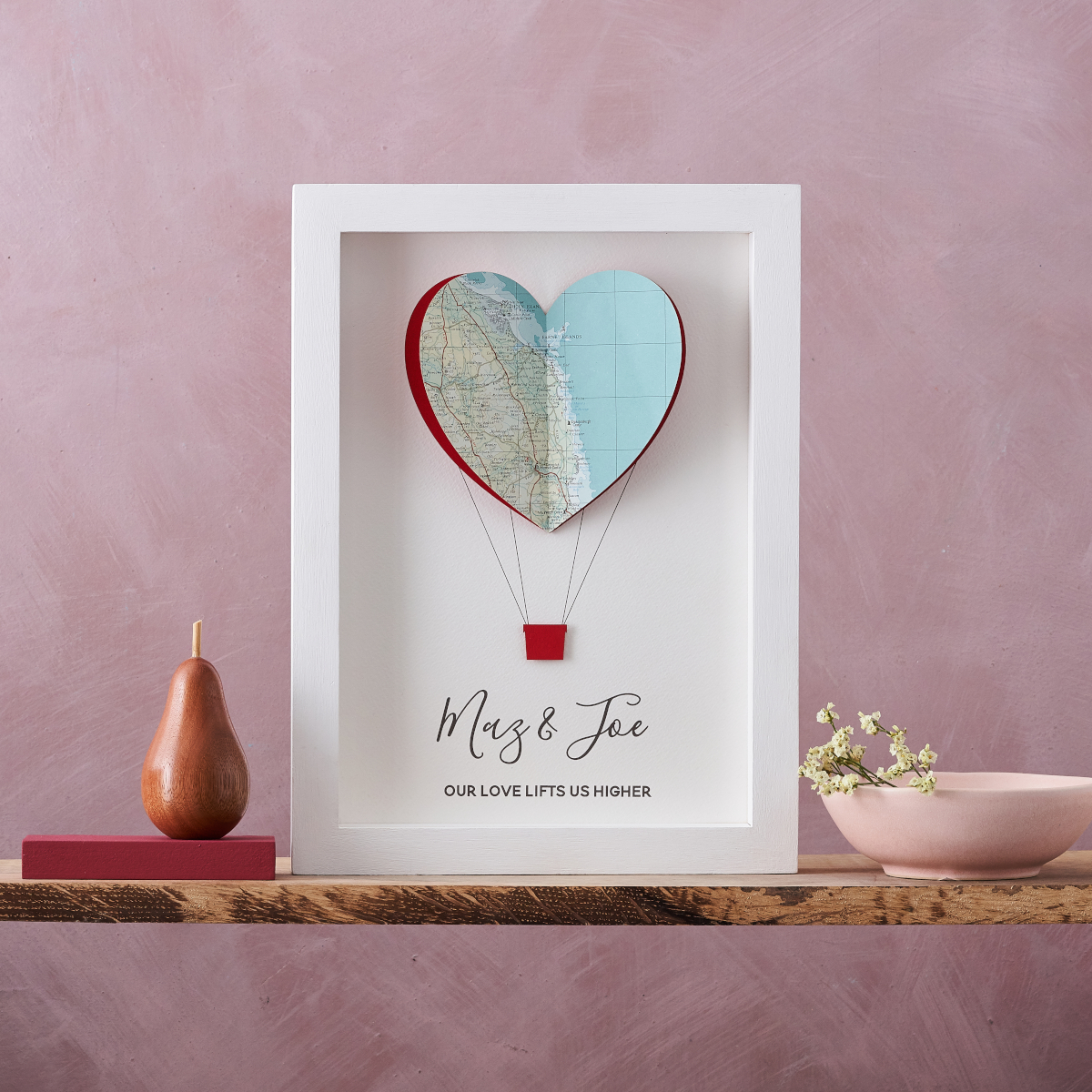 Hot Air Balloon Map print from Bombus, a perfect birthday gift for her