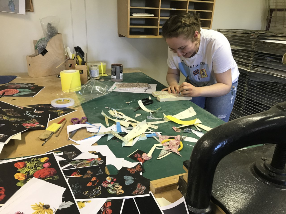 Bombus team member Louise, in the Bombus studio