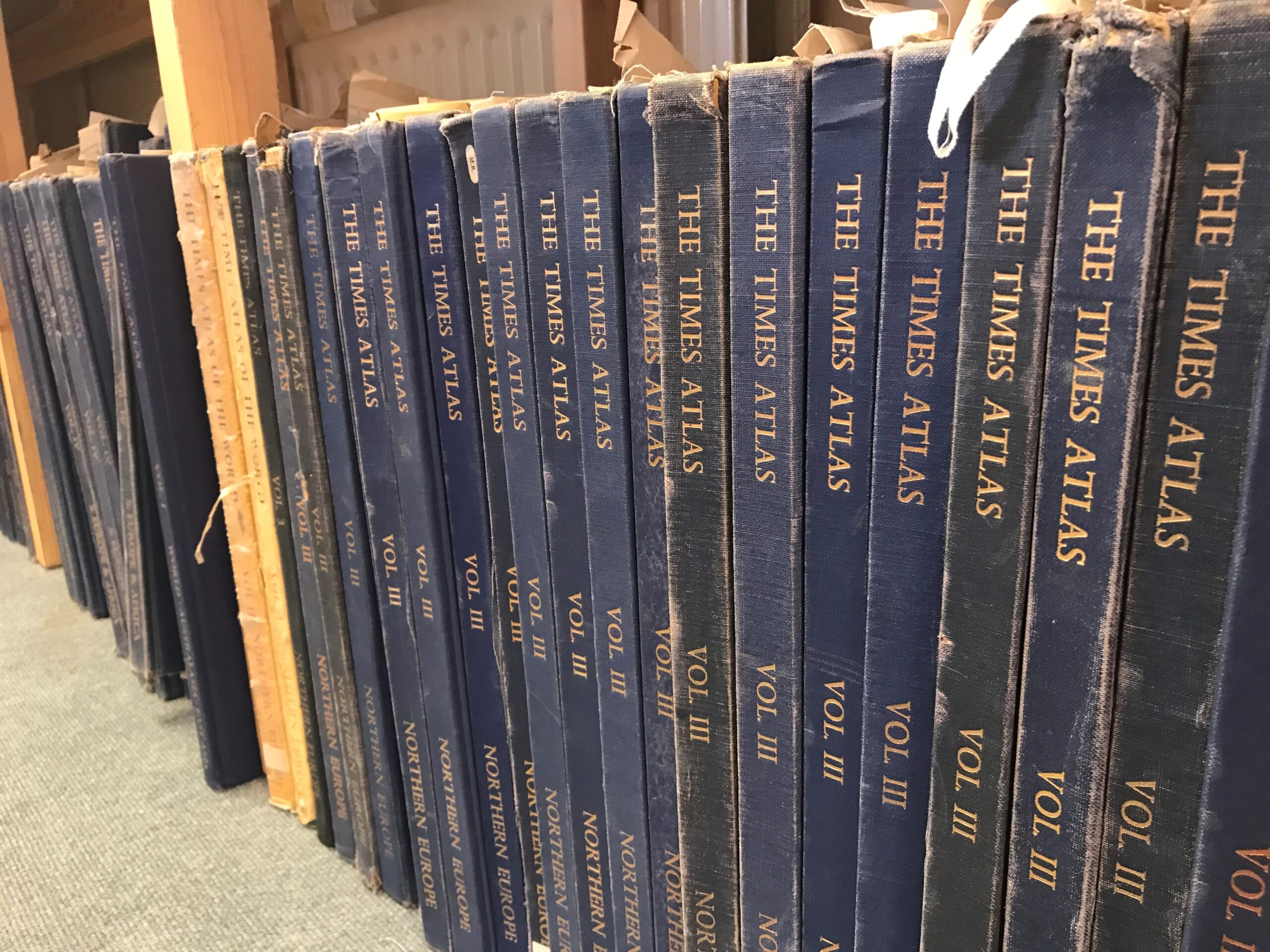 Row of Times Atlases