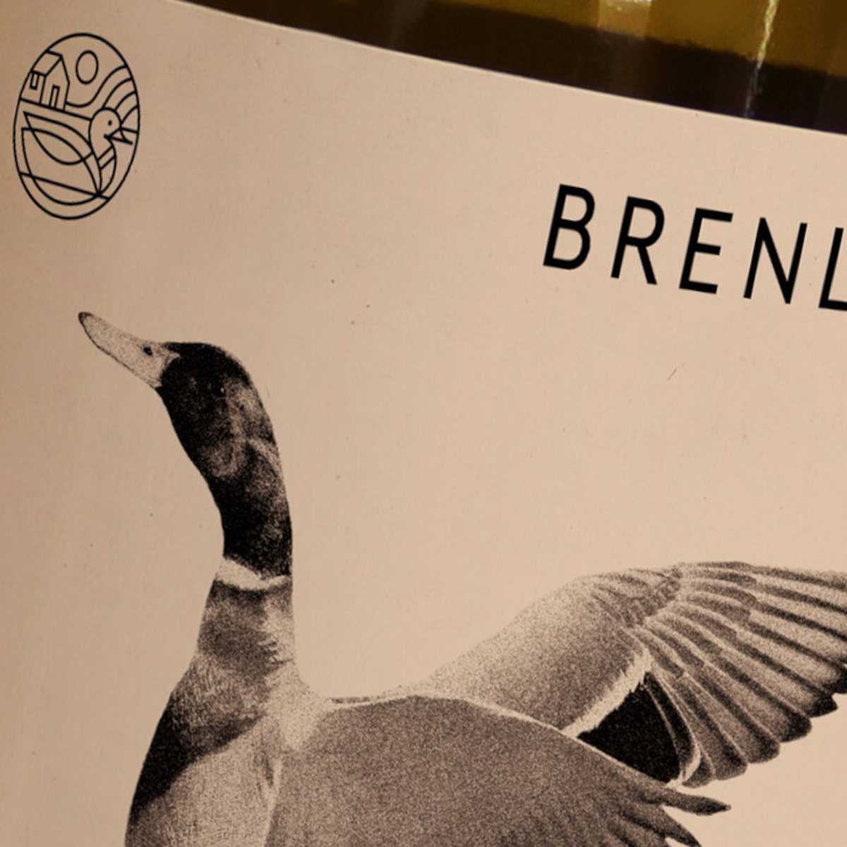 Label of Brenley Wine, produced at Brenley Farm, Faversham