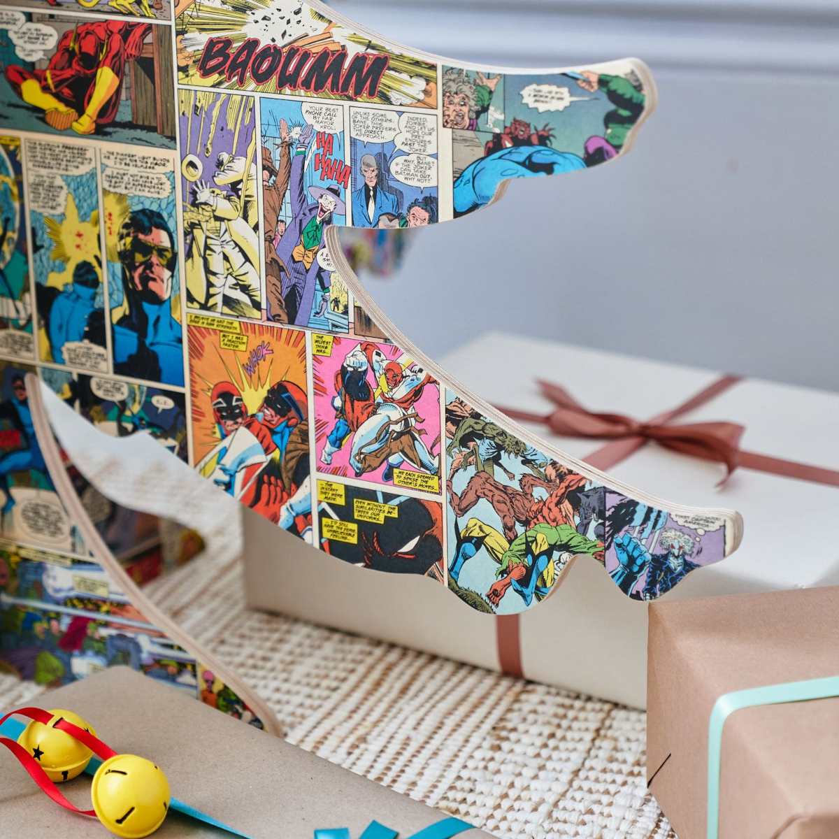 Alternative 4ft Wooden Christmas Tree Comic Book by Bombus