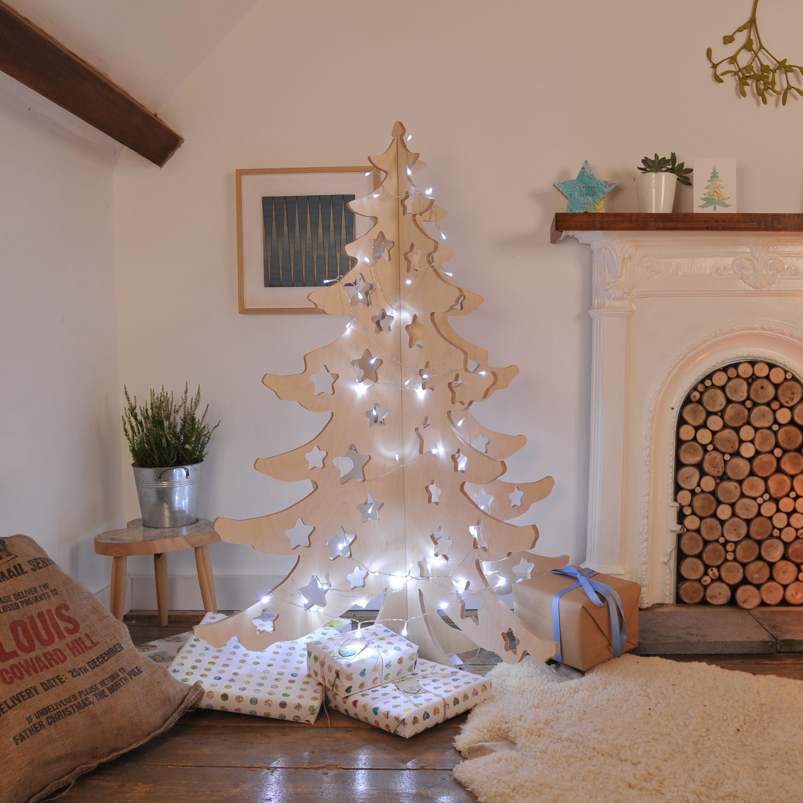 Alternative 4ft Wooden Christmas Tree by Bombus