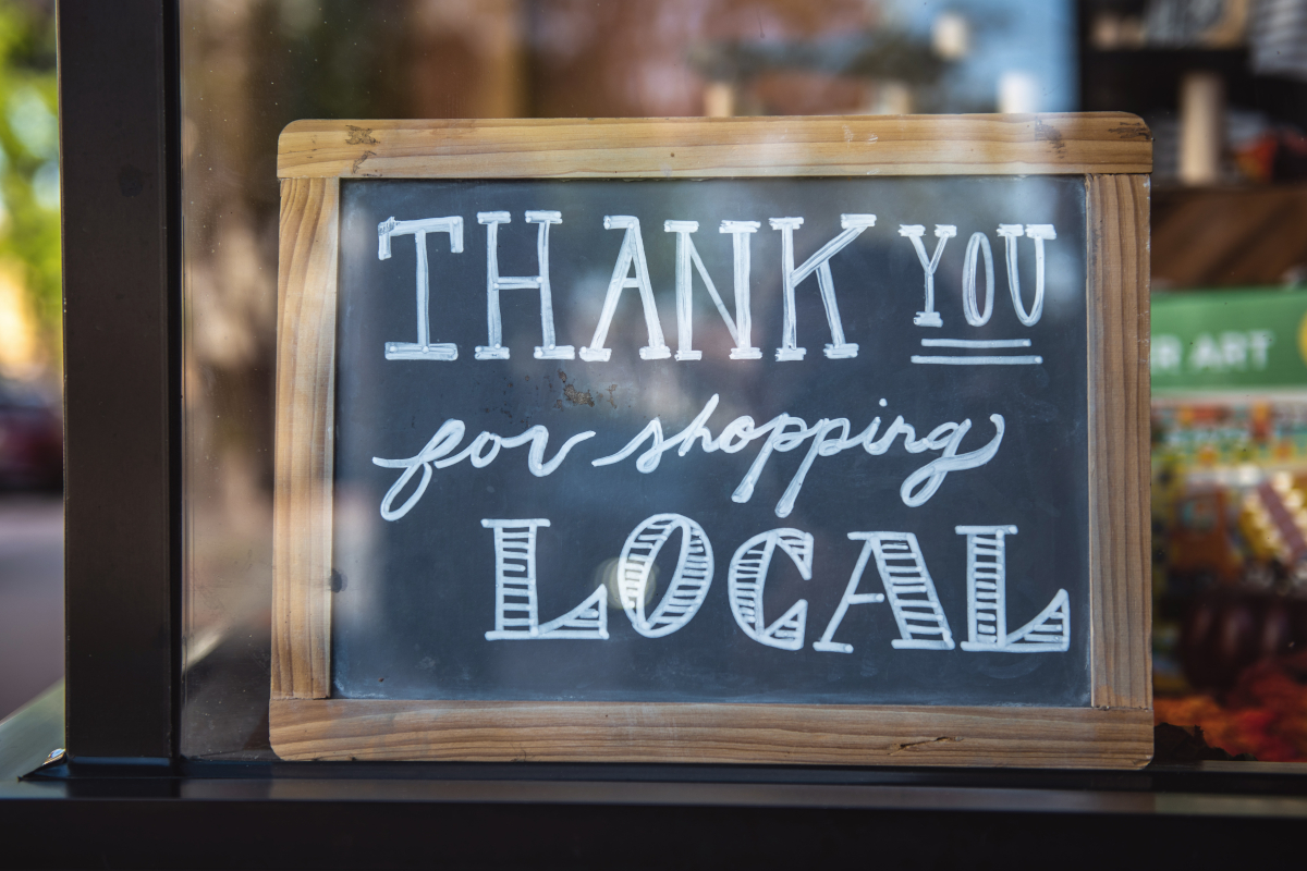 Thank you for shopping local, and for shopping small