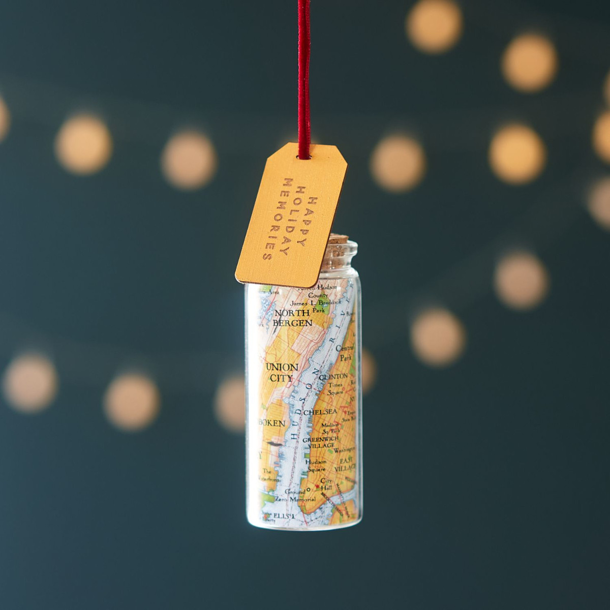 a Christmas map bottle thank you gift decoration