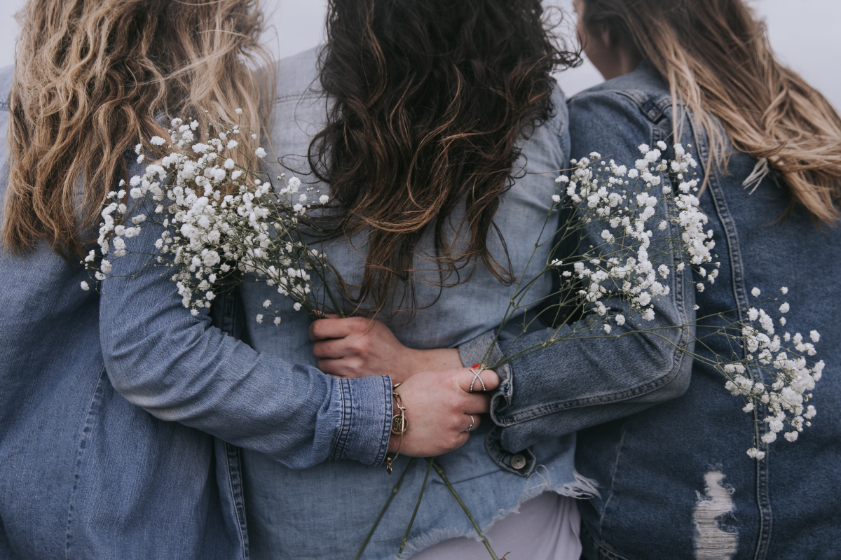 Three women from the back
