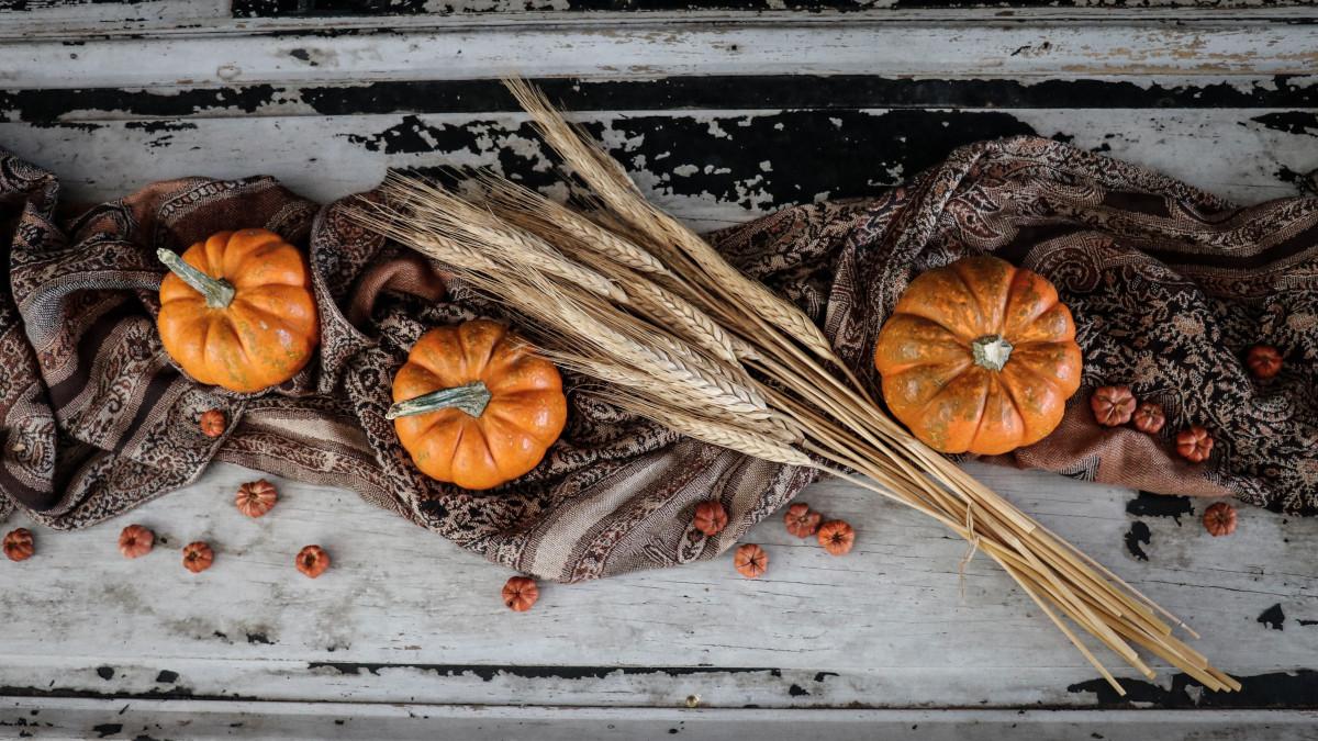 Pumpkins on an Autumn tablescaping set up