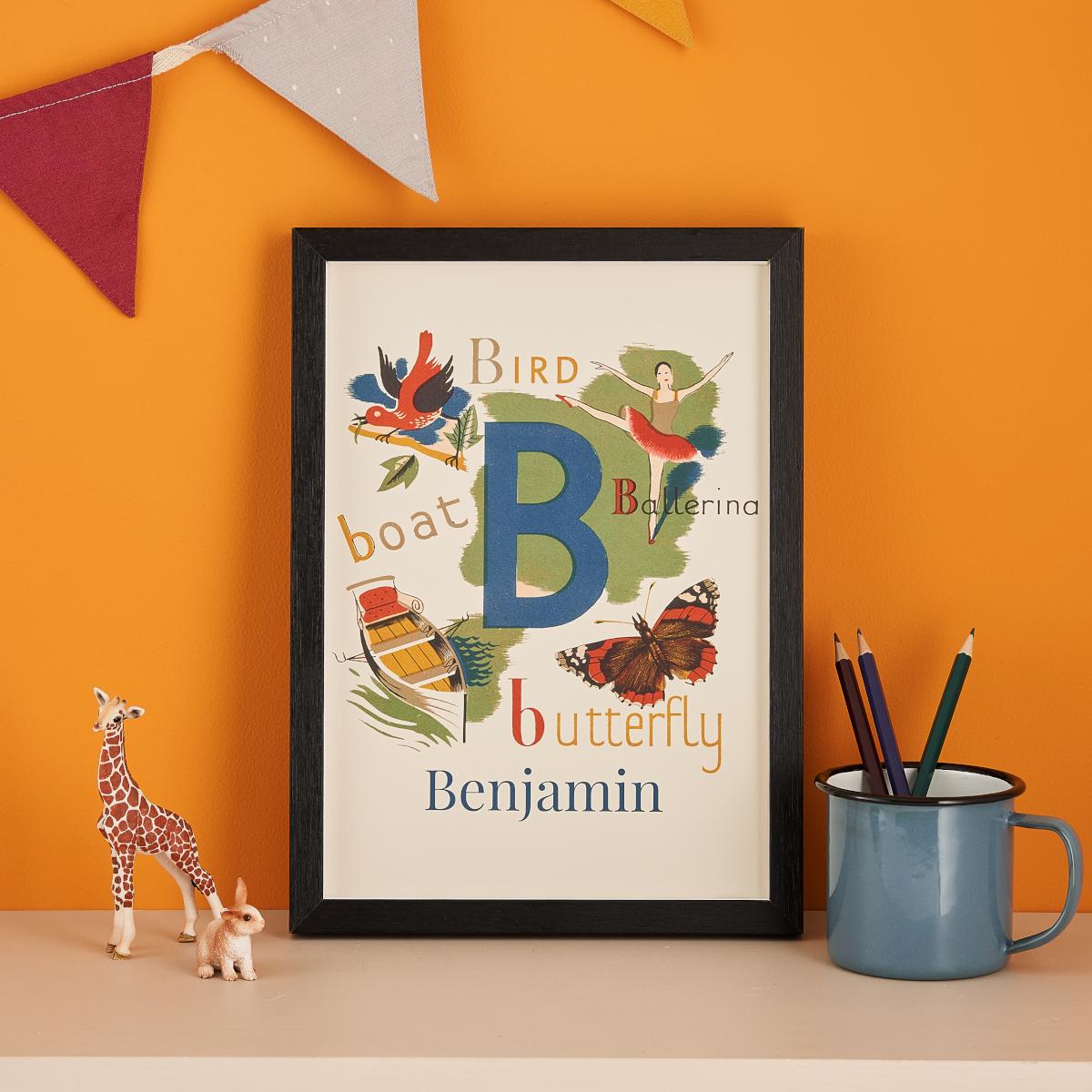 Alphabet Name Print Nursery Decoration