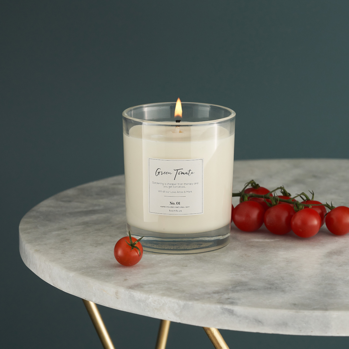 Luxury Soy Candle with Green Tomato Scent