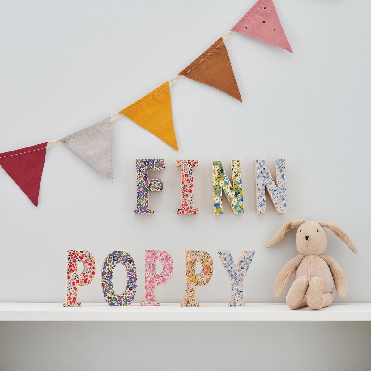 Liberty Fabric Letters Nursery Decoration