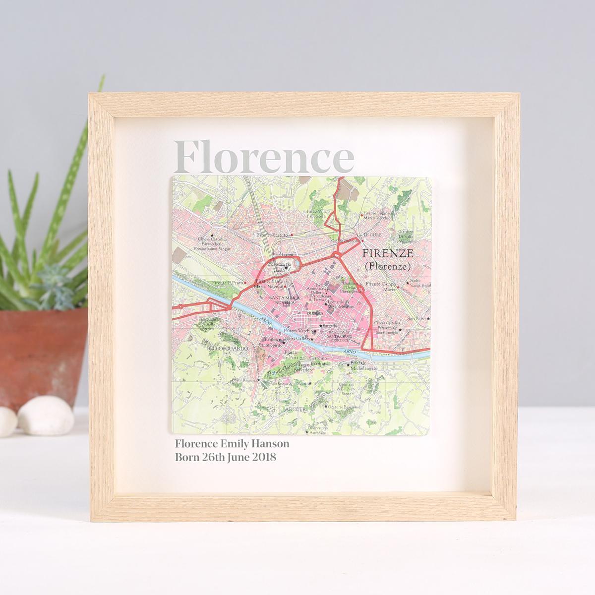 Namesake Map Framed Print Nursery Decoration