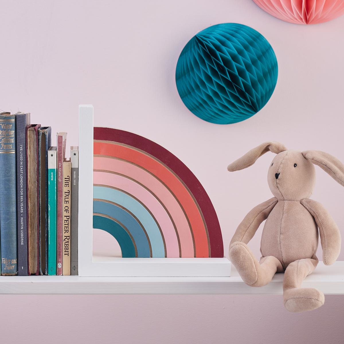 Pastel Rainbow Bookend Nursery Decoration