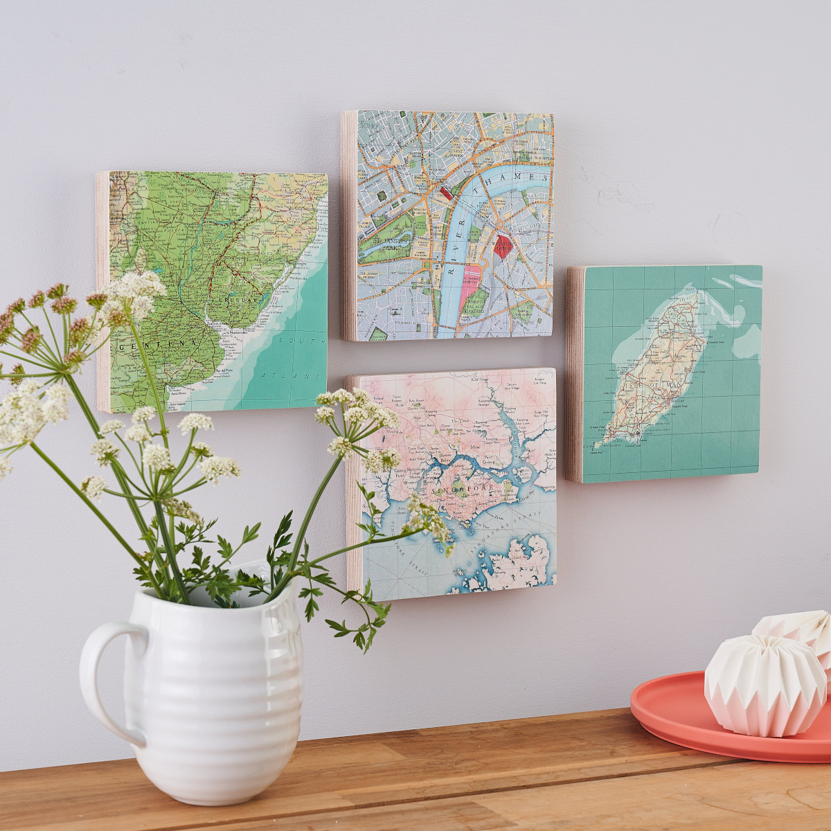 Map Wall Art perfect Thinking of You Gifts