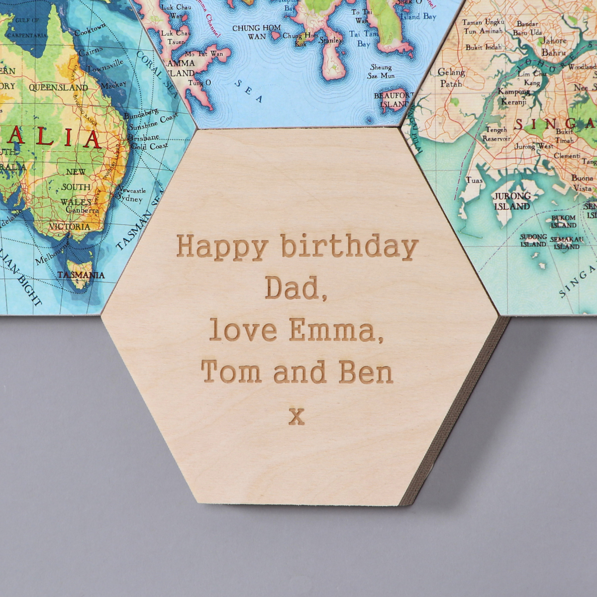 Map Hexagons New Home Gifts