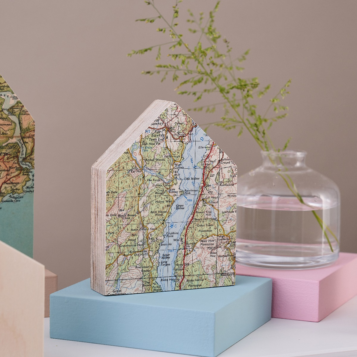 Map House Ornament New Home Gifts