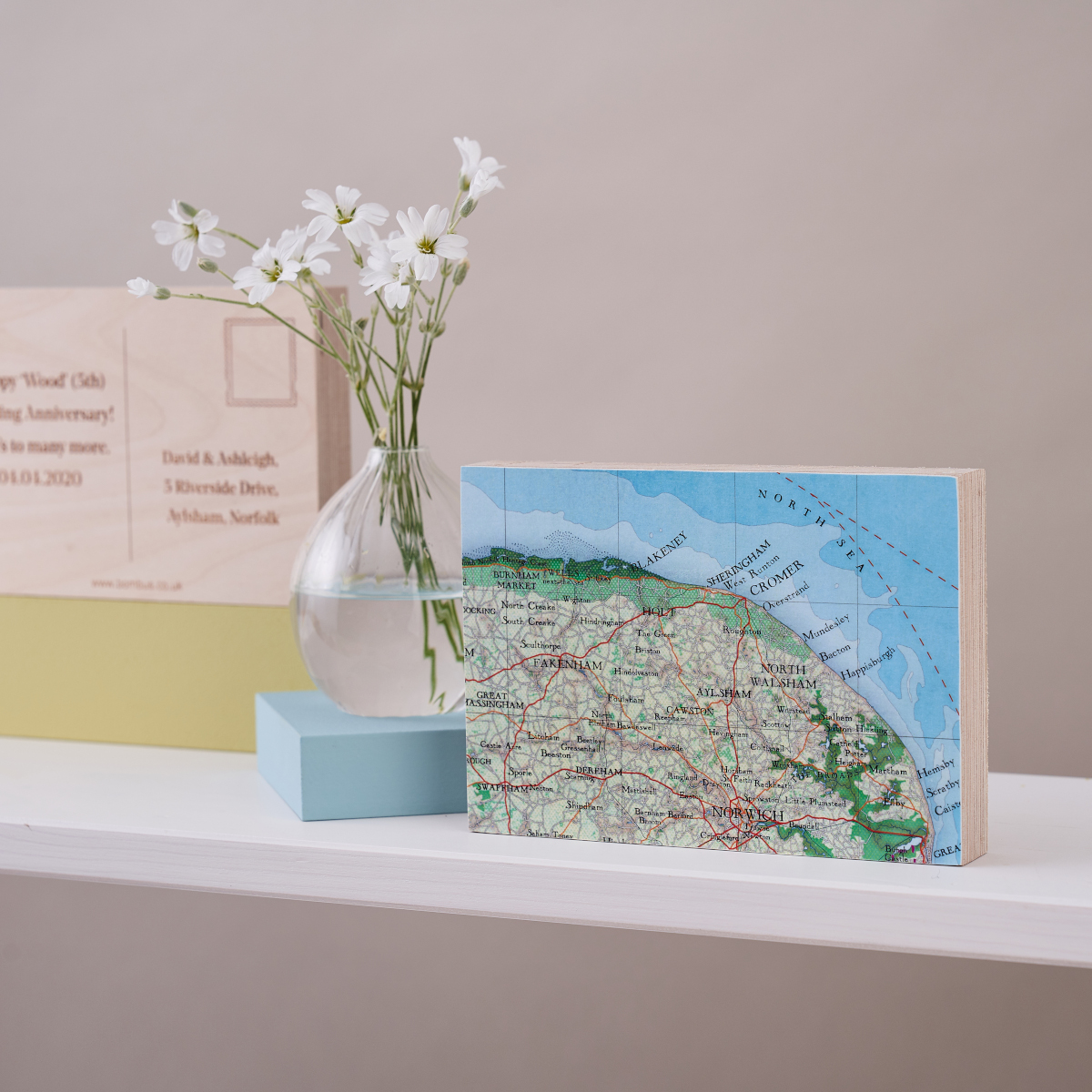 Map Postcard Letterbox Gift from Bombus