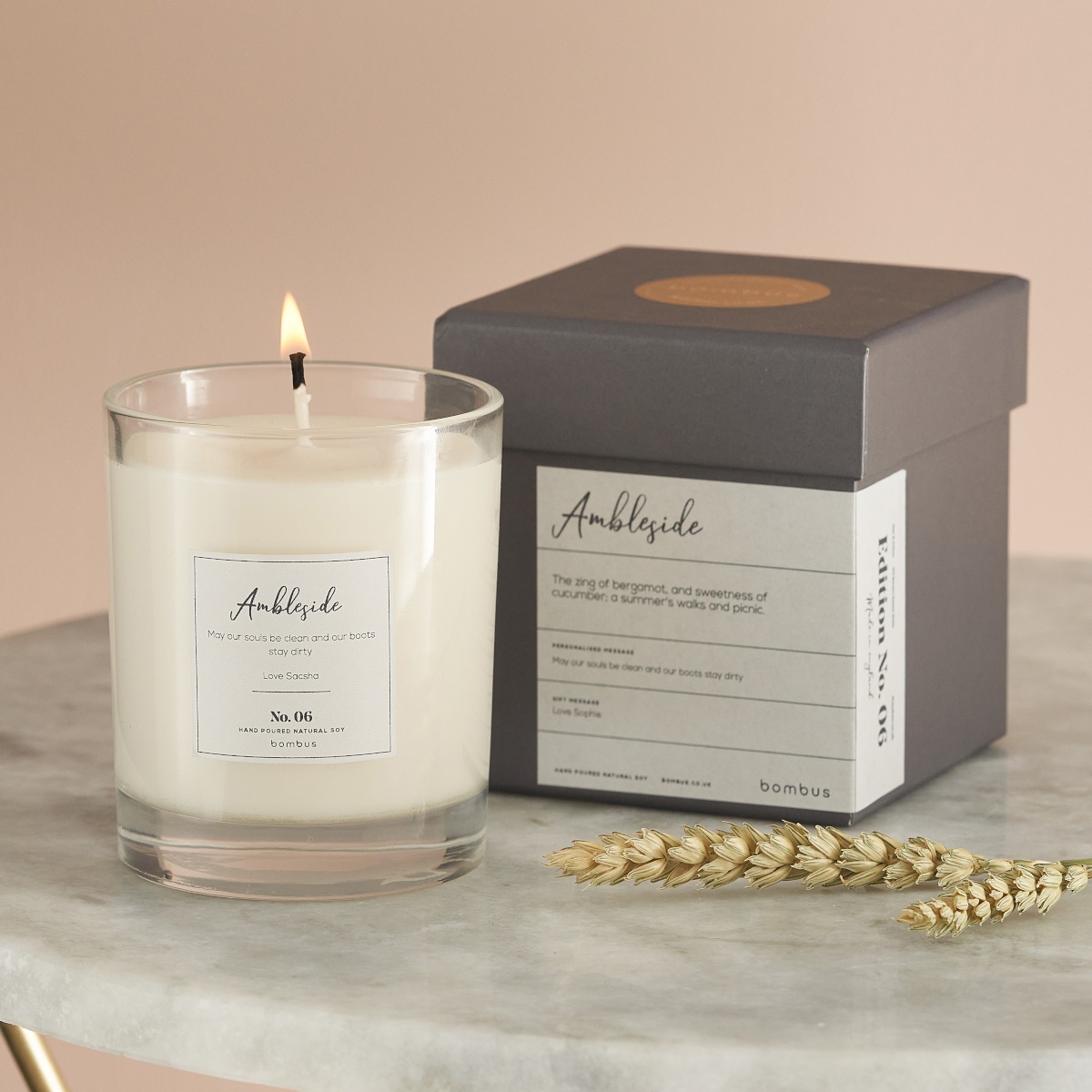Luxury Soy Candle, perfect gift for Yoga fans