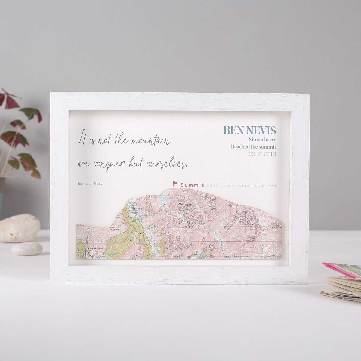 Hikers personalised mountain print, perfect gift for hikers