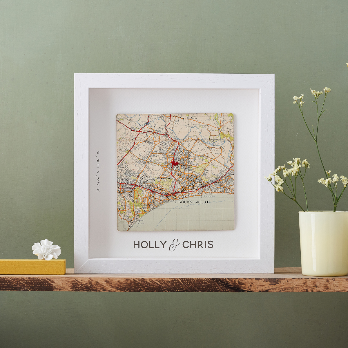 Map Location Gift Print for Weddings
