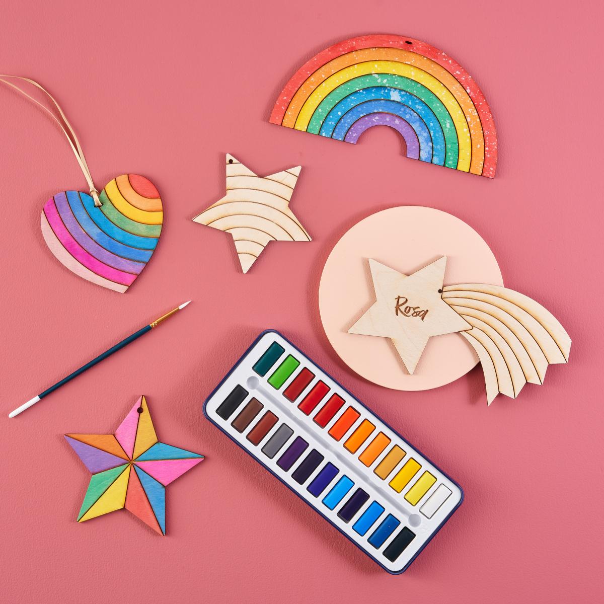 colourful craft kit for children