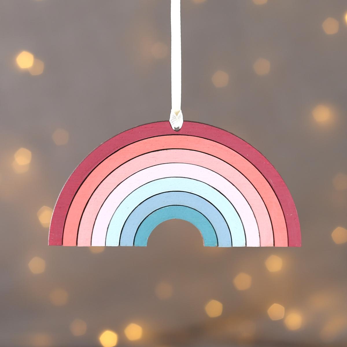 Hanging rainbow keepsake