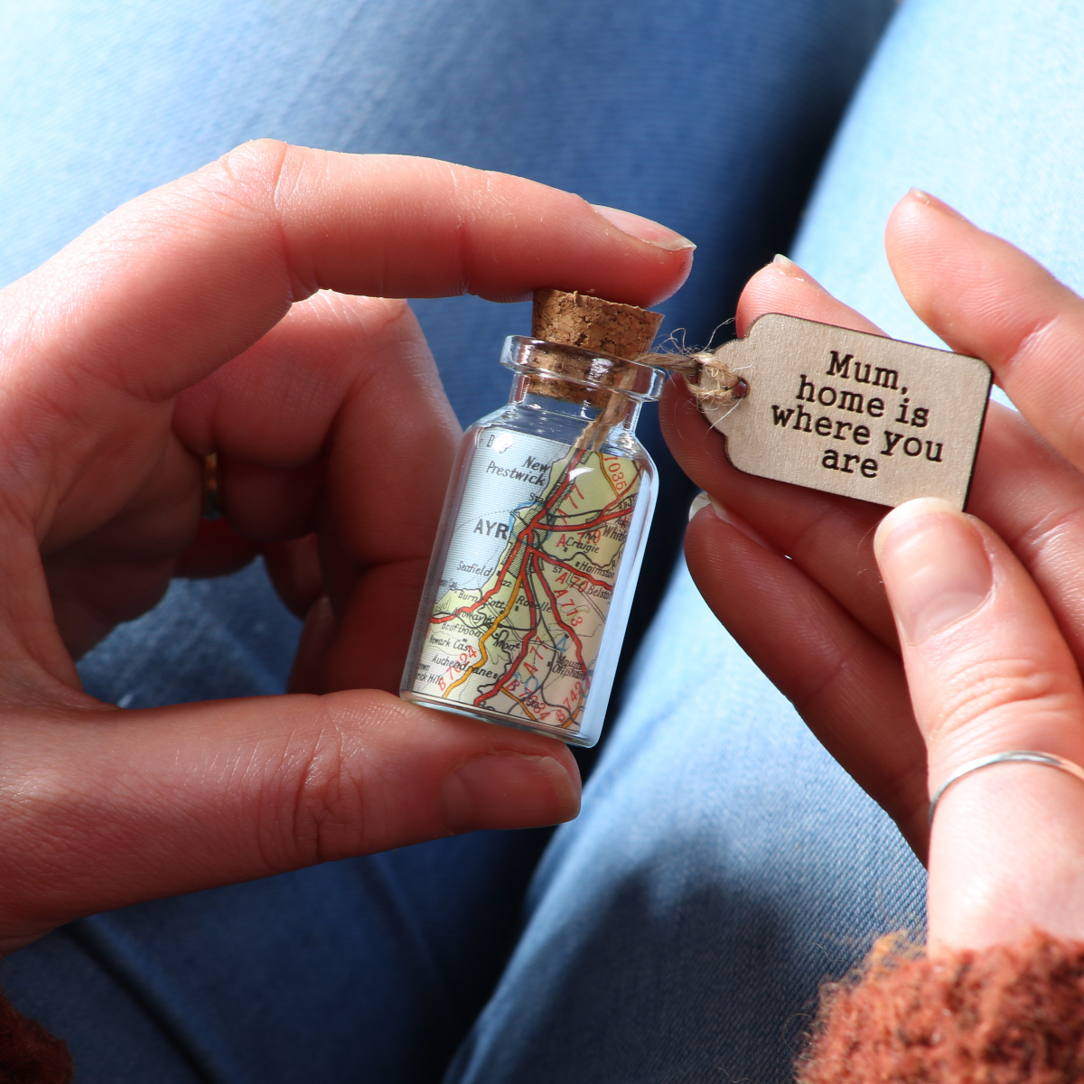 One of our map bottle keepsakes