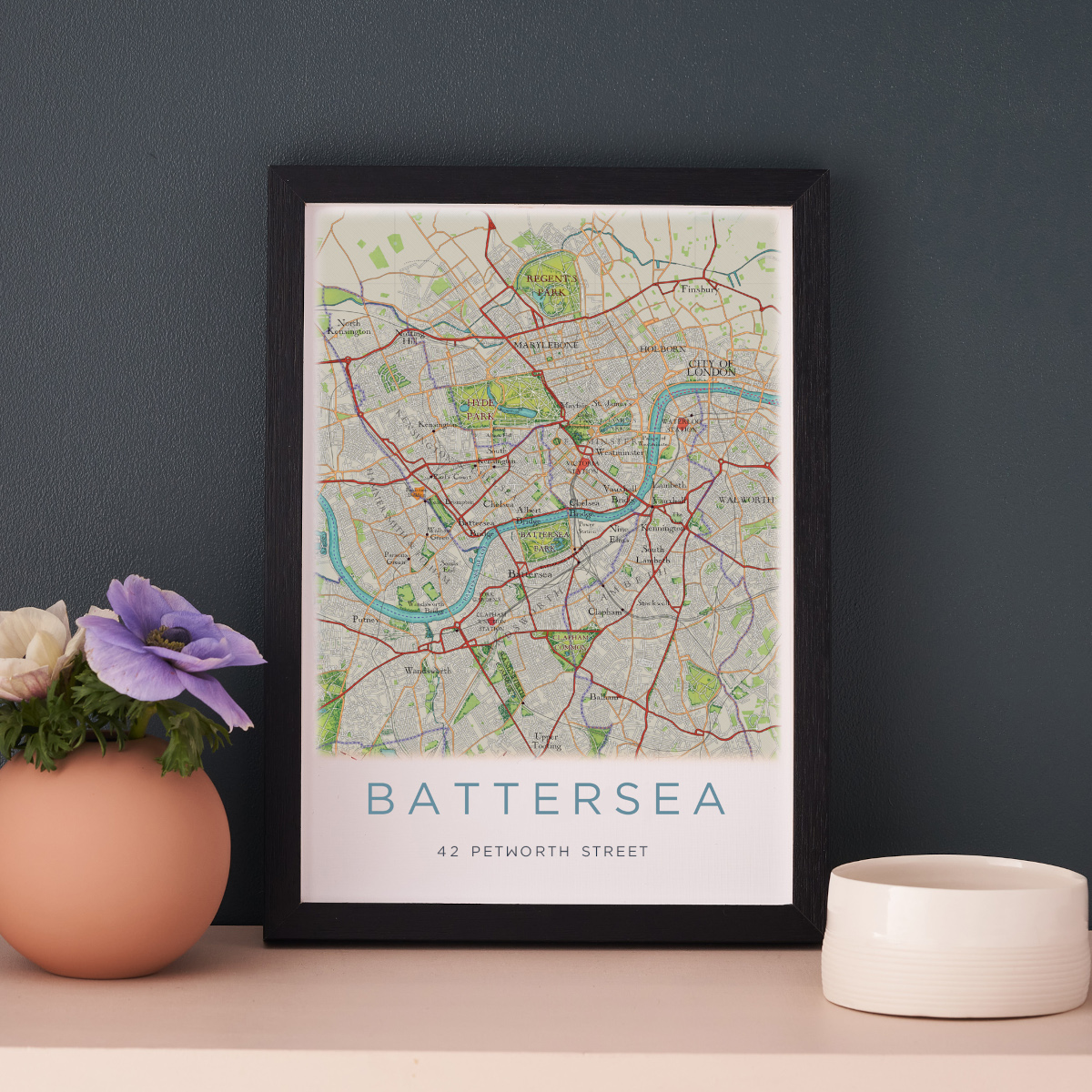 A4 poster of Battersea, London