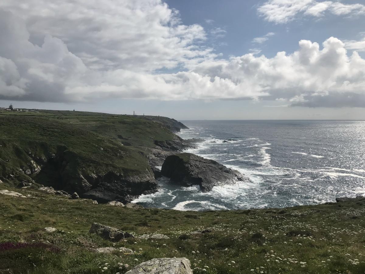 Scenic coast of Cornwall