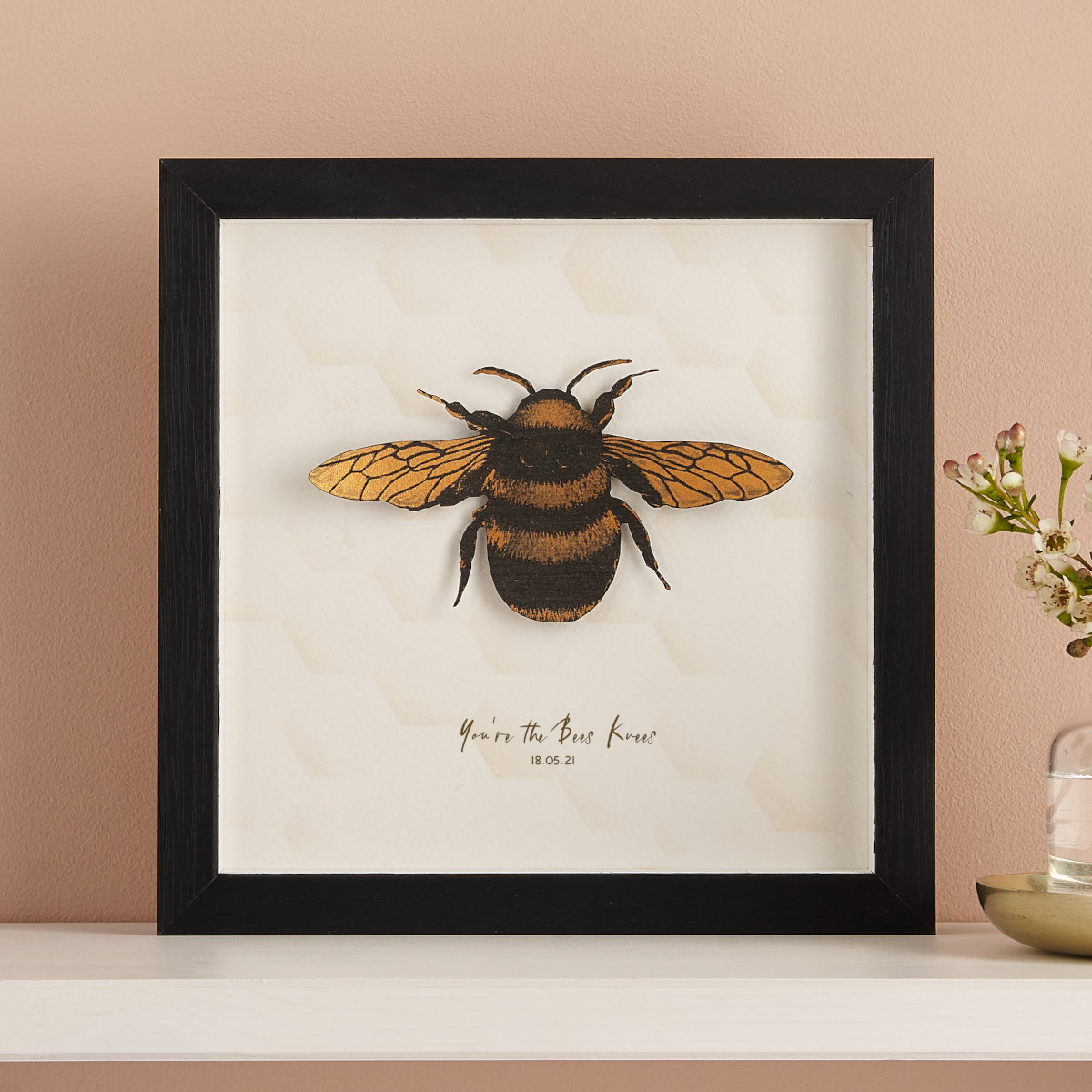 Personalised Paper Cut Bee Print