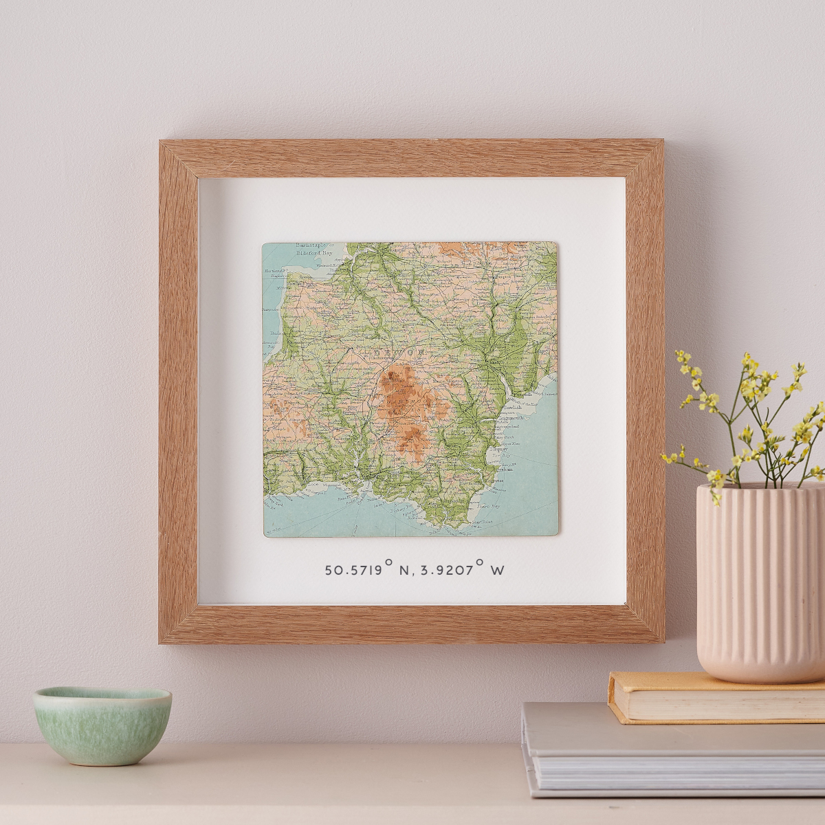 Map Artwork depicting location of their new home