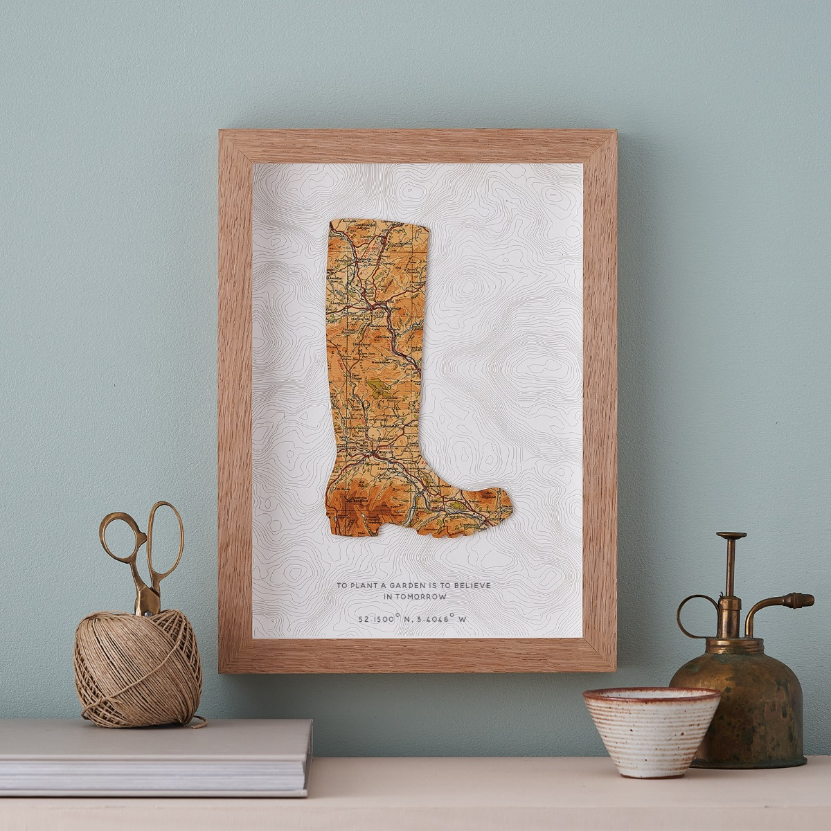 Map Welly Print for Garden Lovers