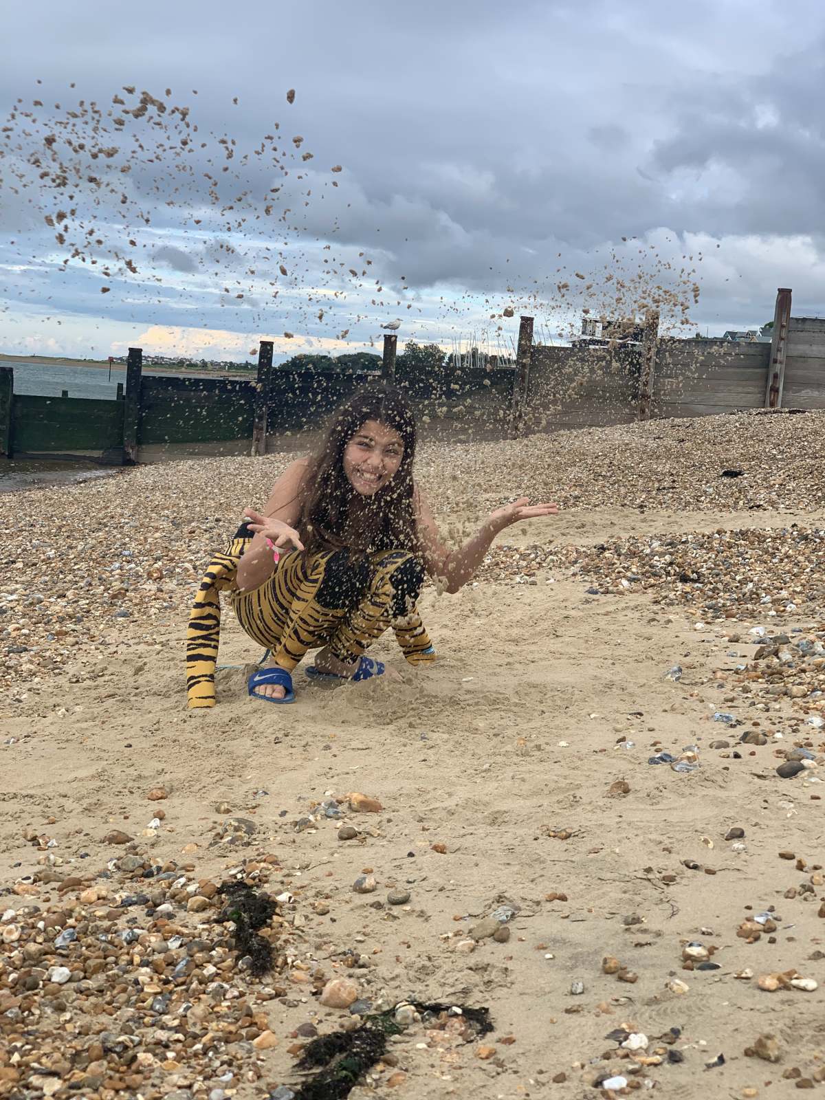 Amelia's daughter Rosa enjoying living by the sea in Whitstable