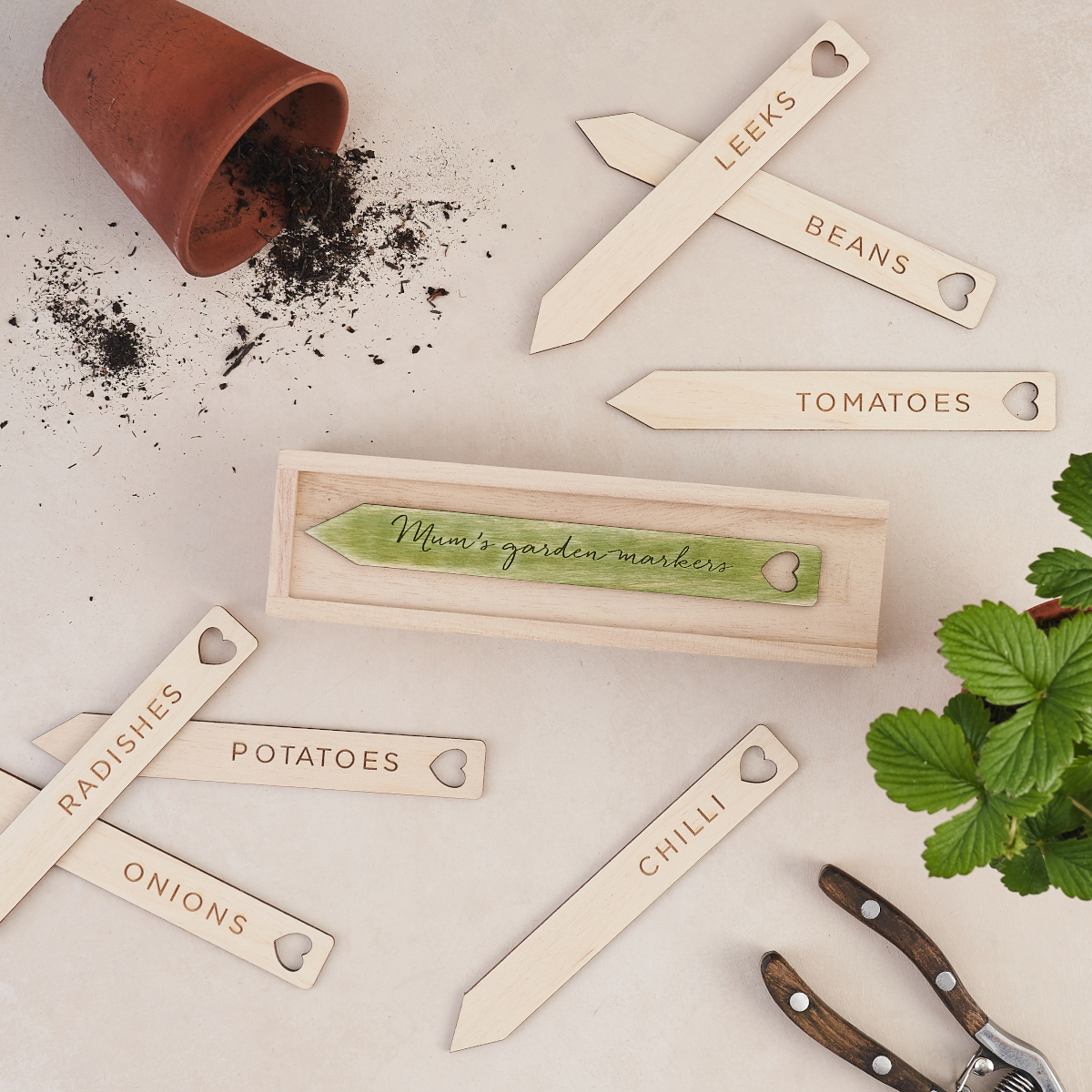 Personalised Seed and Plant Markers for your  Garden